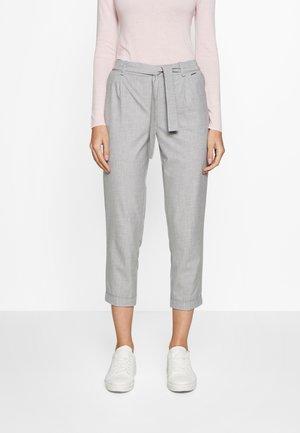 TROUSERS - Trousers - grey/black melange