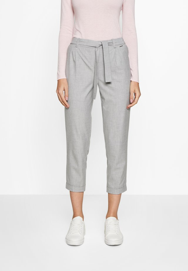 TROUSERS - Pantalon classique - grey/black melange