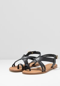 Office Wide Fit - SERIOUS - T-bar sandals - black - 4