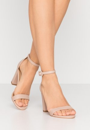 SAN LUIS - High heeled sandals - pale taupe