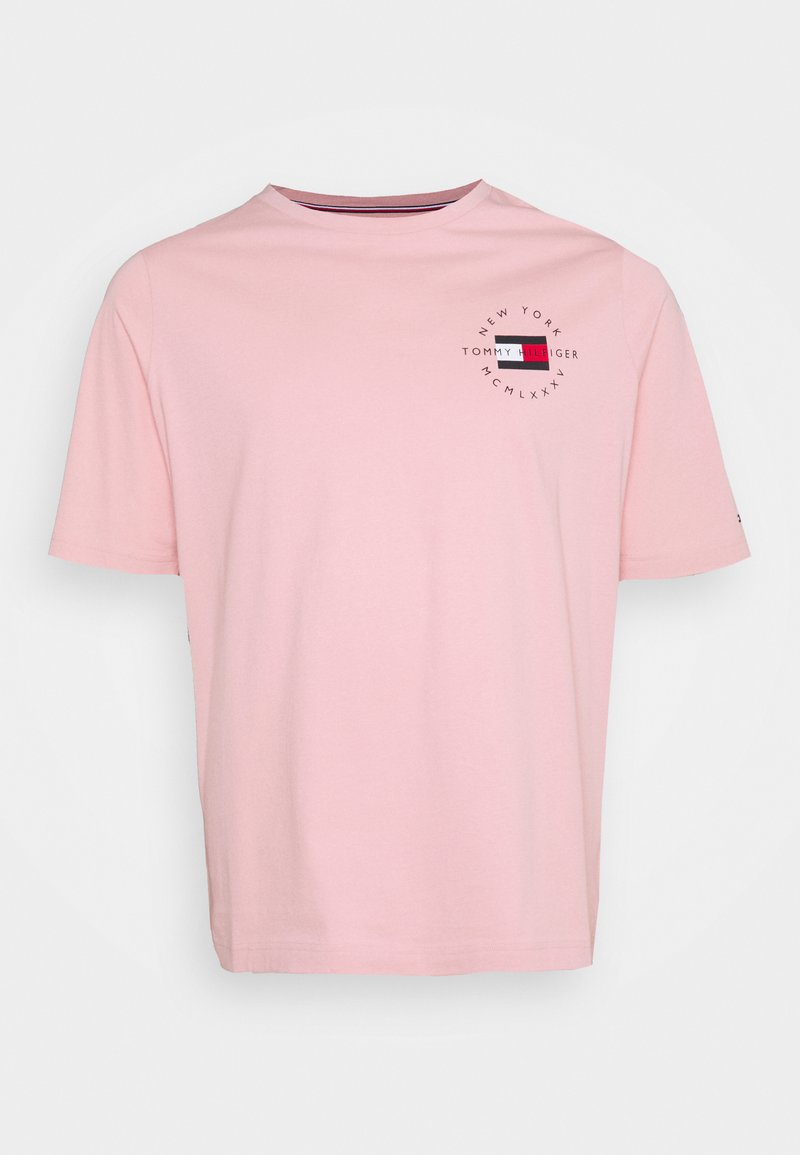 Tommy Hilfiger - CIRCLE CHEST CORP TEE - T-shirt - bas - glacier pink