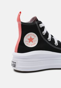 Converse - CHUCK TAYLOR ALL STAR MOVE COLOR POP - Baskets montantes - black/pink salt/white - 4