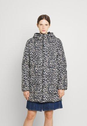 VIKARLA LONG PUFFER JACKET - Classic coat - beige/black