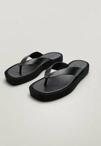 Massimo Dutti - T-bar sandals - black - 3