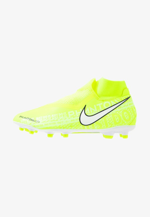 PHANTOM VSN ACADEMY DF FG/MG - Moulded stud football boots - volt/white/obsidian