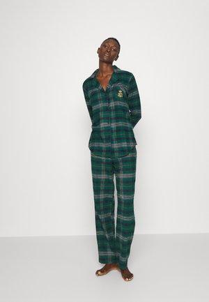 BRUSHED NOTCH COLLAR PAJAMA - Pyjamas - green