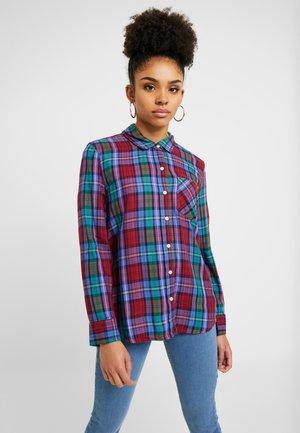 DRAPEY PLAID - Button-down blouse - purple combo