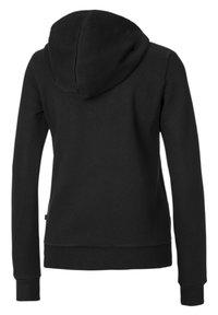 Puma - ESSENTIALS - Zip-up sweatshirt - cotton black - 1
