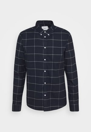 HARRISON CHECK BRUSHED - Skjorte - dark navy/light grey melange
