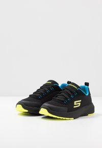 Skechers - DYNAMIC TREAD - Trainers - black/blue/lime - 3