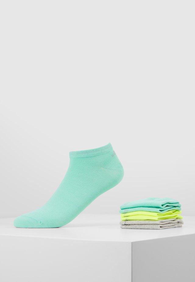 6 PACK - Trainer socks - green/yellow/light grey
