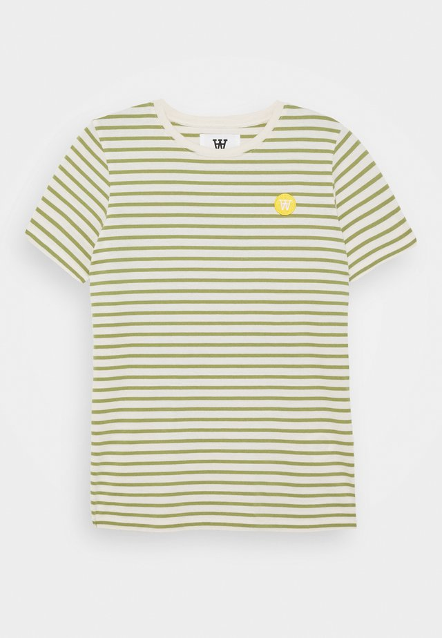 OLA KIDS - T-shirt con stampa - off-white/olive