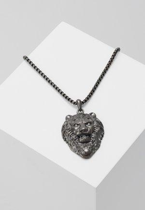 LION CHARM NECKLACE  - Collar - gunmetal