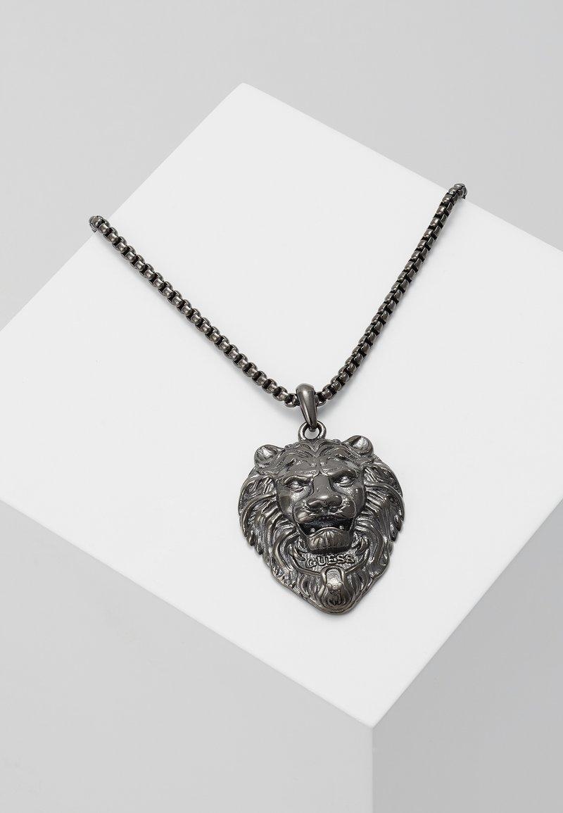 Guess - LION CHARM NECKLACE  - Necklace - gunmetal