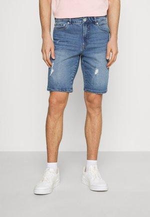 SDRYDER DESTROY - Denim shorts - light blue denim