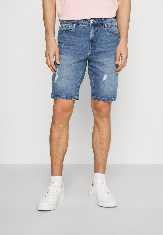 SDRYDER DESTROY - Denim shorts - light blue denim