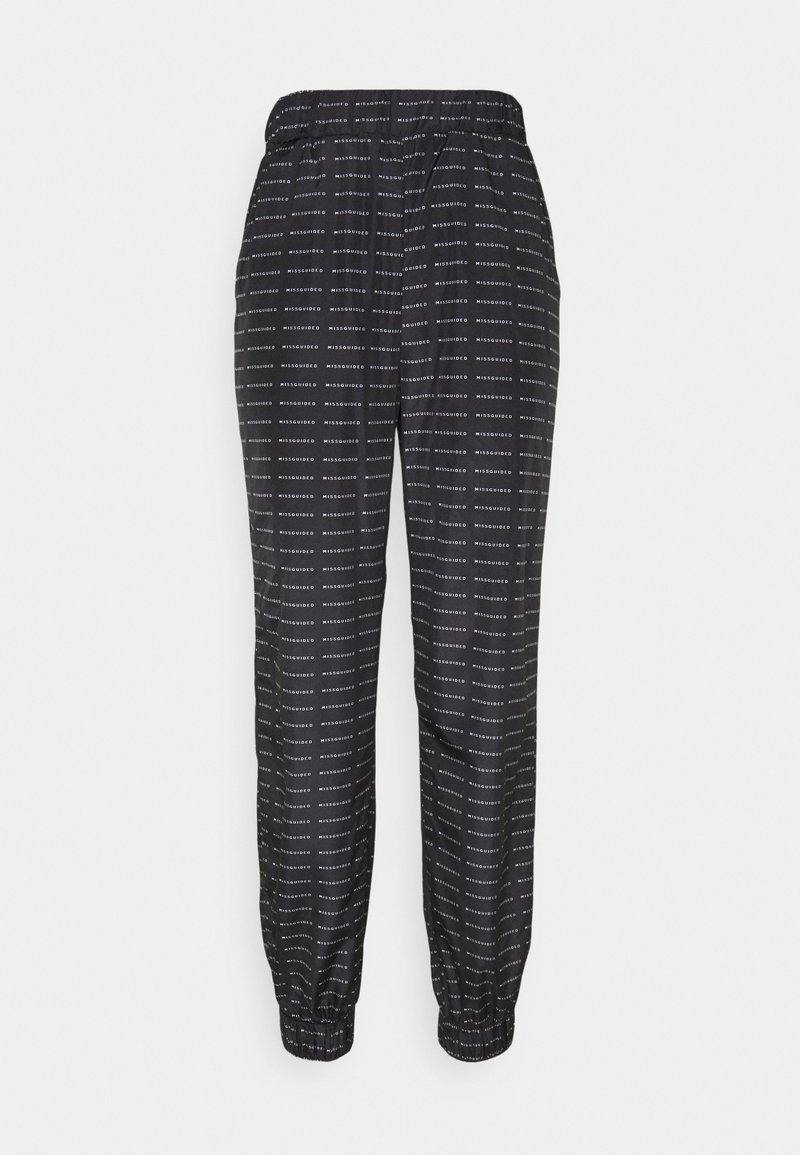 Missguided - SMALL BRANDED JOGGER  - Tracksuit bottoms - black