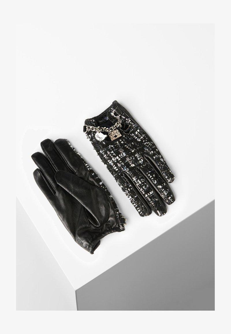 KARL LAGERFELD - Rękawiczki pięciopalcowe - black