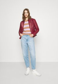 Pepe Jeans - LENNA - Faux leather jacket - currant - 1