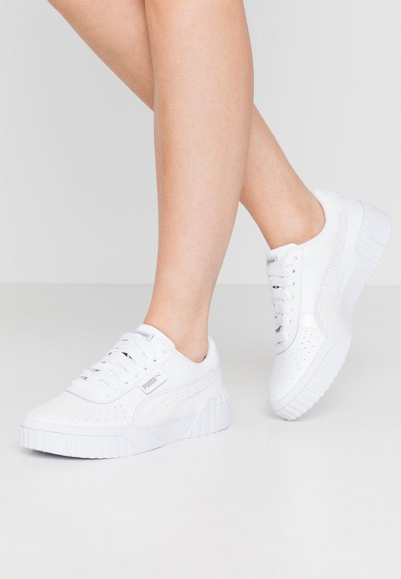 Puma - CALI - Trainers - white/metallic silver