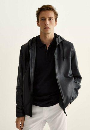 Leather jacket - blue