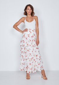True Violet - TIERED  - Maxi skirt - white - 1