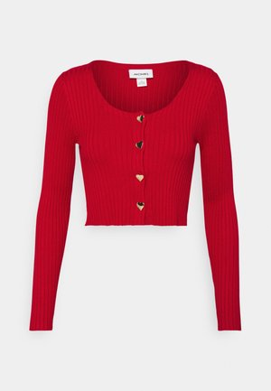 ALIANA CARDIGAN - Strickjacke - red