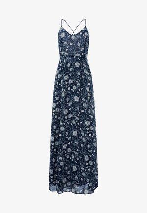 KLEID CHIFFON SPAGHETTI DRESS LONG - Maxi-jurk - true blue