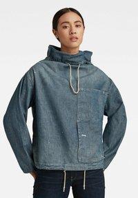 G-Star - LONG SLEEVE MOCK NECK  - Summer jacket - antic faded aegean blue painted - 0