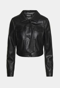 ONLY - ONLVIBE TRUCKER JACKET - Faux leather jacket - black - 4