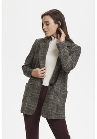 Soaked in Luxury - JILLIAN - Short coat - black/brown/cream - 0