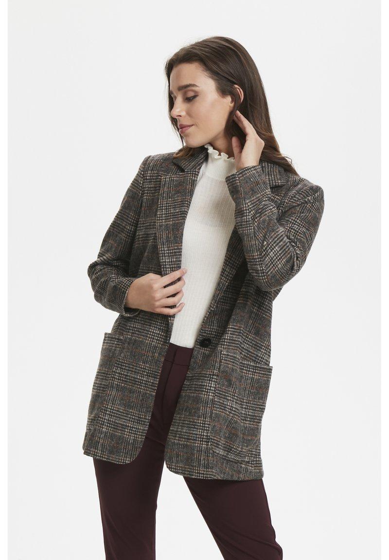Soaked in Luxury - JILLIAN - Short coat - black/brown/cream