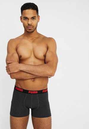 STRIPE BOXER 2 PACK - Pants - red/black