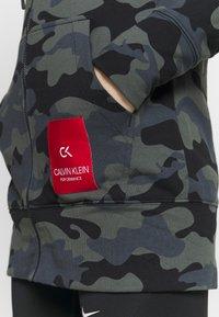 Calvin Klein Performance - FULL ZIP HOODED - Sudadera con cremallera - black - 4