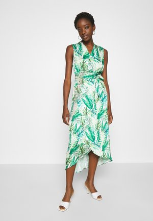 PALM WRAP MIDI DRESS - Korte jurk - green