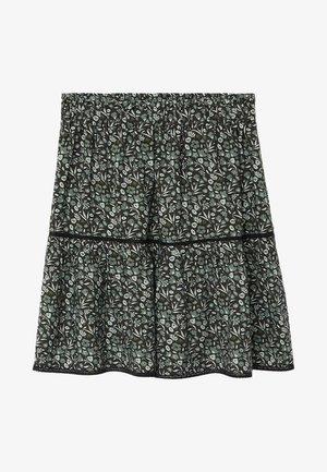 FLEUR - Áčková sukně - zwart