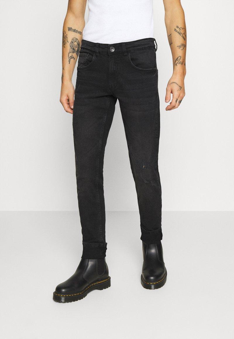 Redefined Rebel - STOCKHOLM DESTROY - Slim fit -farkut - edgy black