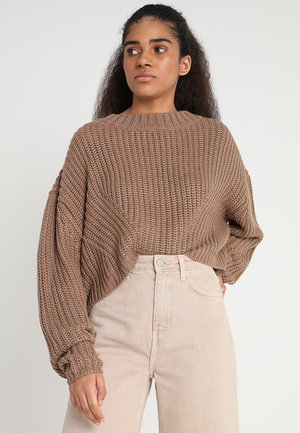 LADIES WIDE OVERSIZE  - Strickpullover - taupe