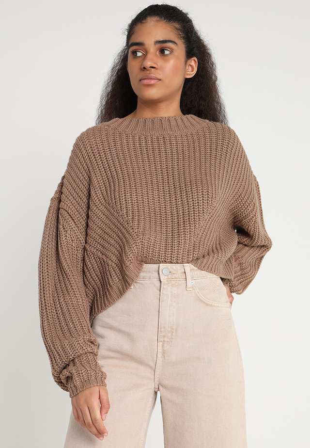 LADIES WIDE OVERSIZE  - Sweter - taupe