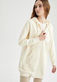 DeFacto - Zip-up hoodie - ecru - 5