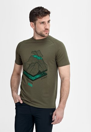 MOUNTAIN - Print T-shirt - iguana