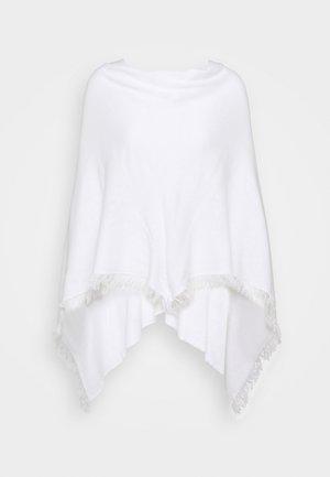 PONCHO - Cape - white