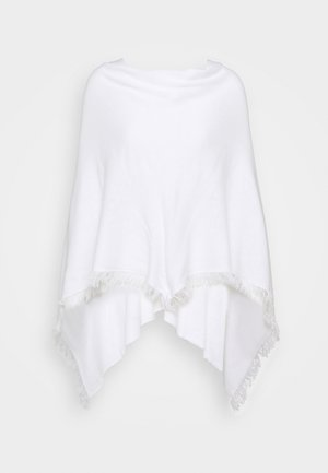PONCHO - Mantella - white