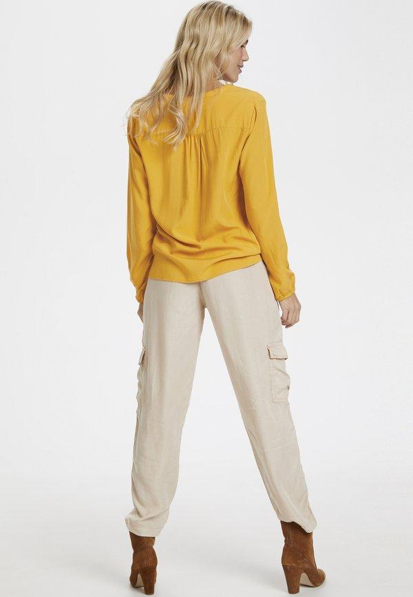 Saint Tropez SARASZ - Bluzka - yellow Kolor jednolity Odzież Damska TYUD GR 5