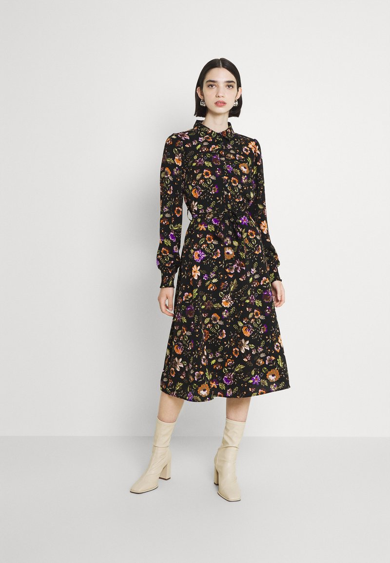 Pieces - PCFALISHI MIDI SHIRT DRESS - Skjortklänning - black