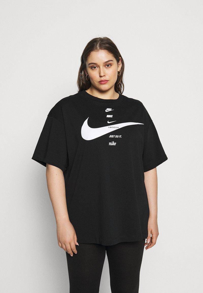 Nike Sportswear - T-shirt con stampa - black/white