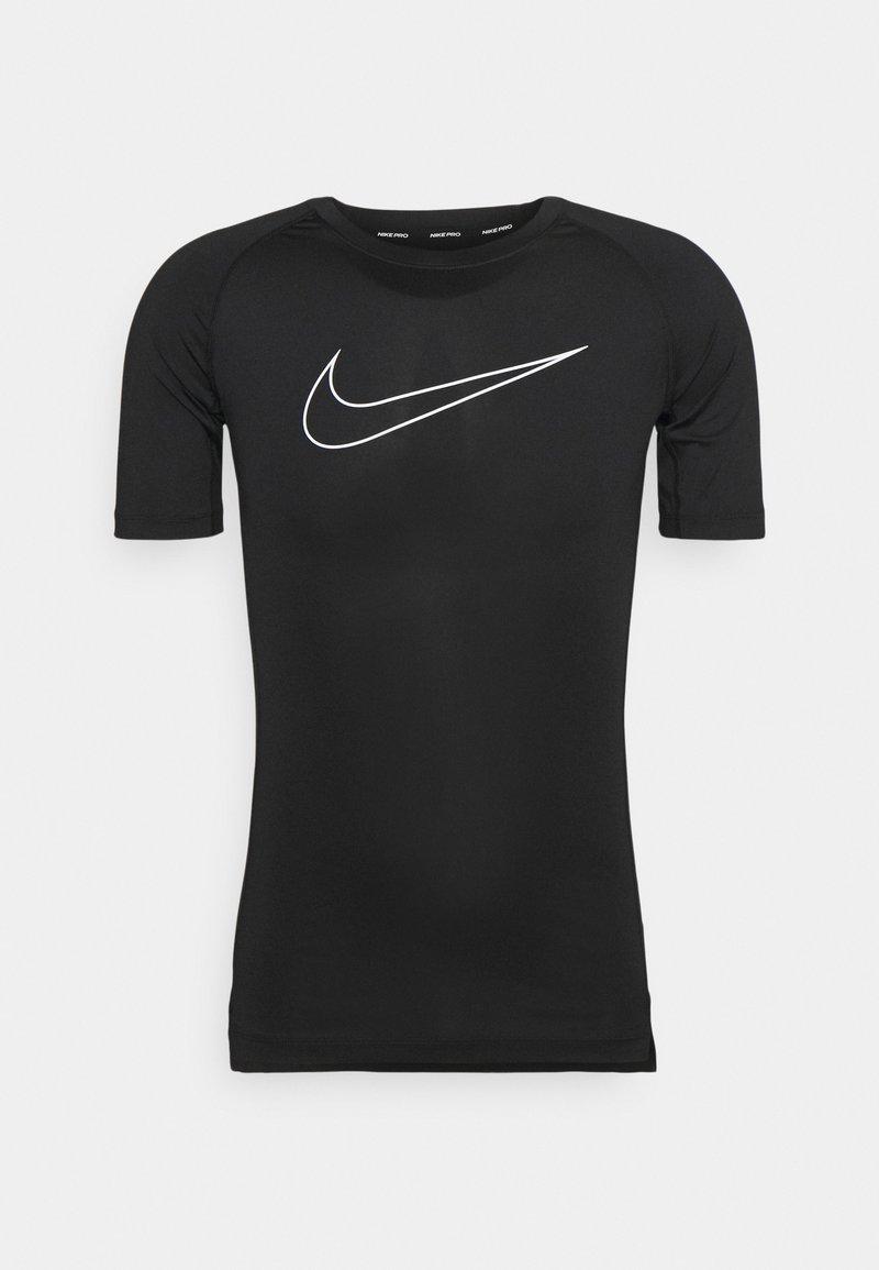 Nike Performance - TIGHT - Print T-shirt - black/white