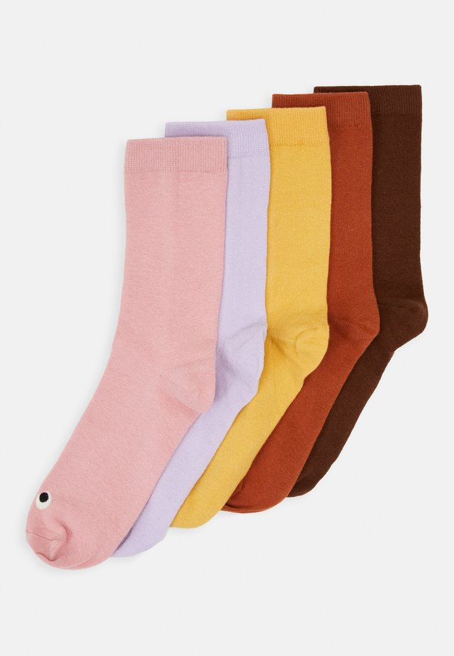 MONKI FACES 5 PACK - Calze - yellow/multi-coloured