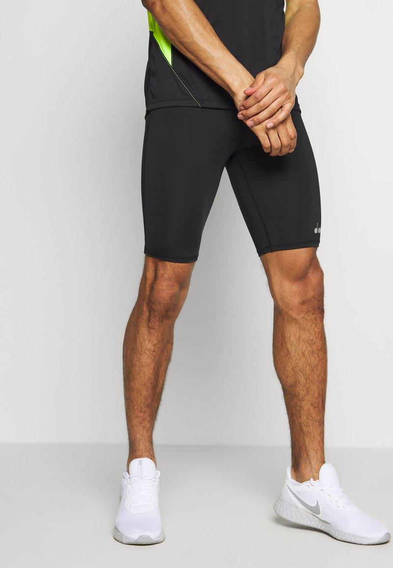 Diadora - SHORT  - Leggings - black