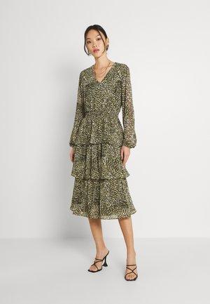 VIFULLA V-NECK DRESS - Day dress - ivy green